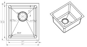 R14-S1816-16 Size Drawing